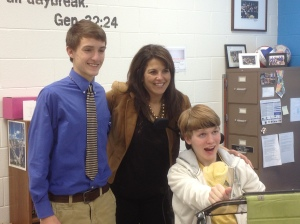 WVLT interview with Parker, Michelle Silva and I